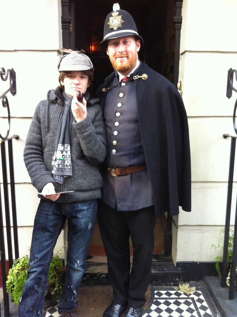 в музее Шерлока Холмса на Бейкер стрит