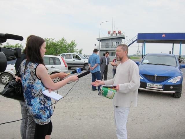 Телеканал Россия встречает экспедицию Игоря Гришина.